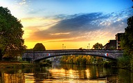 Amazing Germany : HDR Saarbrucken Cityscape Wallpapers